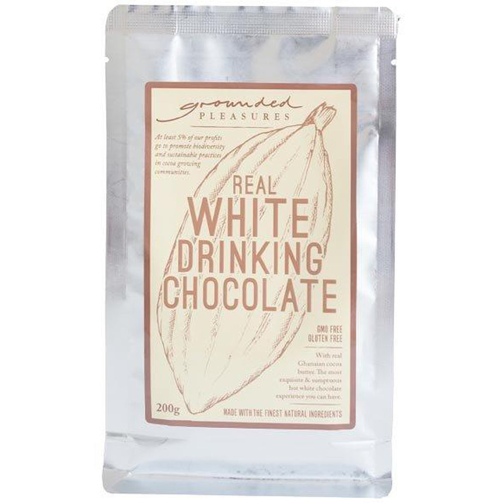 Real White Drinking Chocolate 200gm-Grounded Pleasures-The Red Road Collective