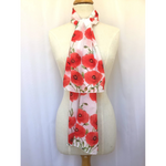 Red Poppy Flower Scarf-The Red Road Collective-The Red Road Collective