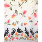 Magpie & Grevillea Scarf-The Red Road Collective-The Red Road Collective