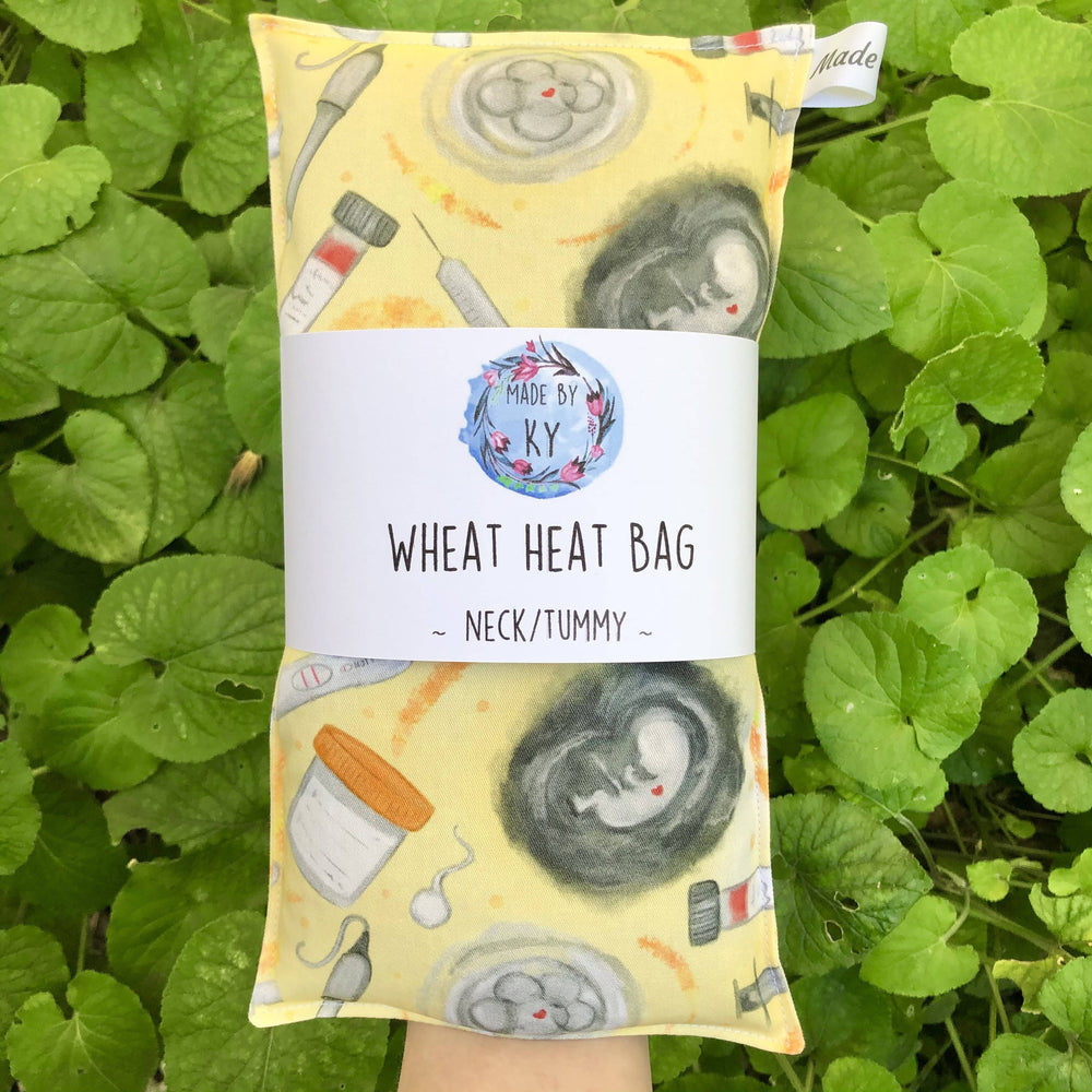 Wheat Heat Bag - IVF Yellow - Regular-Wheat heat bag-The Red Road Collective