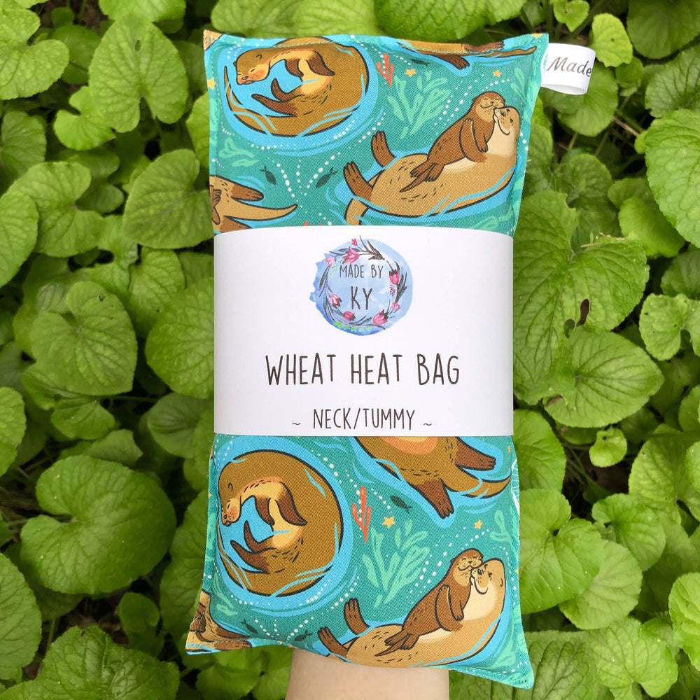 Wheat Heat Bag - Cute Otters - Regular-Wheat heat bag-The Red Road Collective