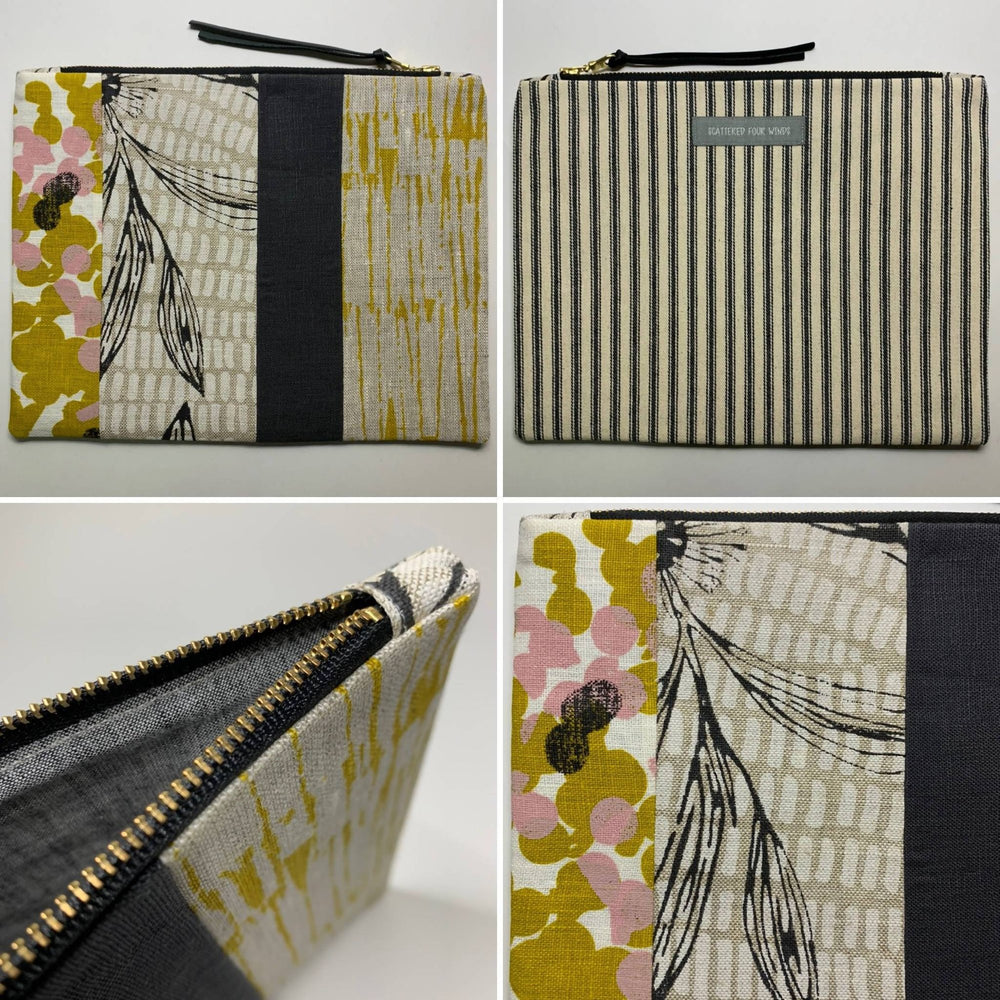 Patchwork Botanical Clutch with Hakea and Mustard