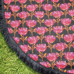 Black Warratah | Cotton Backing |Play mat