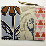 Patchwork Budgie Clutch with Flowers and Geo Print