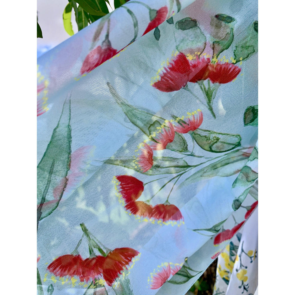 Gum Blossoms Scarf Mint