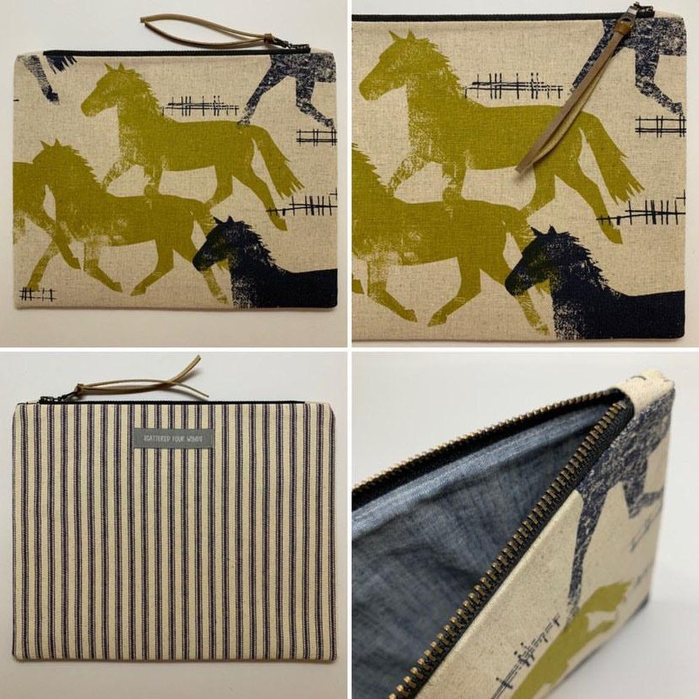 "Handmade Clutch | ""Brumbies"" Clutch Large"