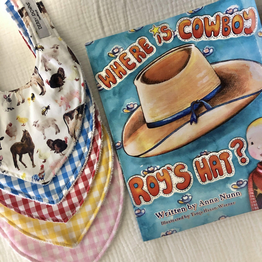 Cowboy Roy Book & Bib | Gift Pack | Made to Order