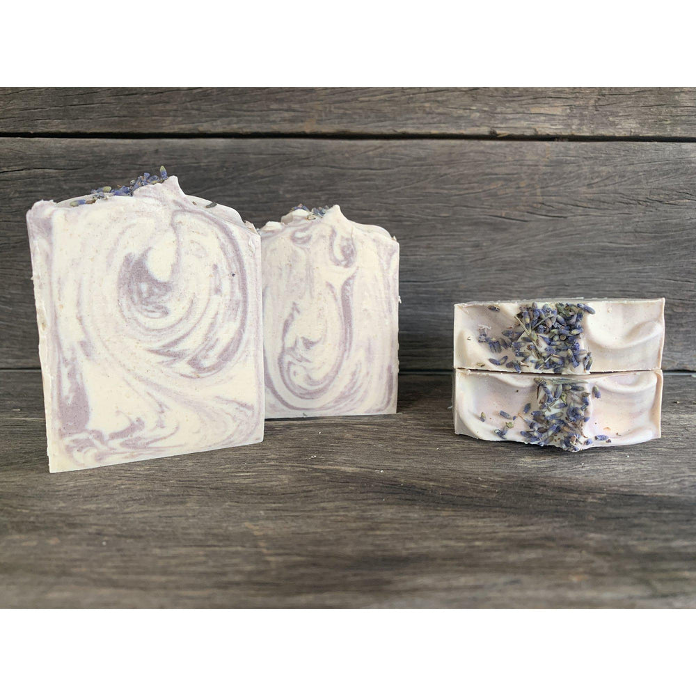 Goat Milk Soap- Lavender & Cedarwood with Purple Brazilian Clay-Red Road Soaps-The Red Road Collective