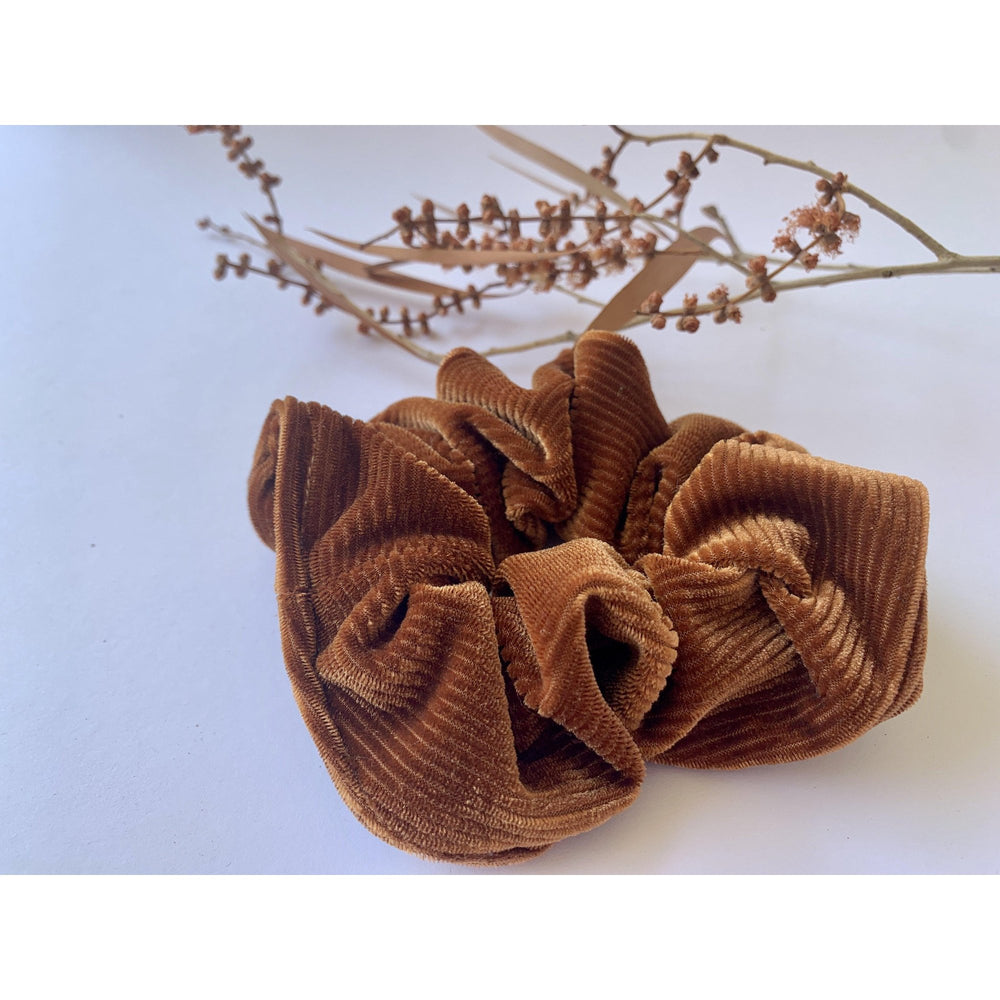 Scrunchie-Bronze Velvet-Scrunch it by G-The Red Road Collective