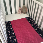 Derry Downs Handmade | Minky Pram Blanket | Boho Skulls-The Red Road Collective-The Red Road Collective