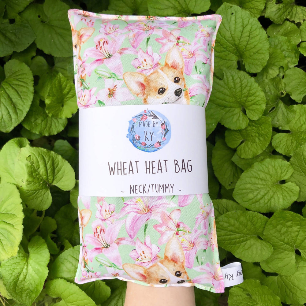 Wheat Heat Bag - Corgies in the Lillies - Regular