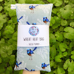 Wheat Heat Bag - Blue Wrens - Regular