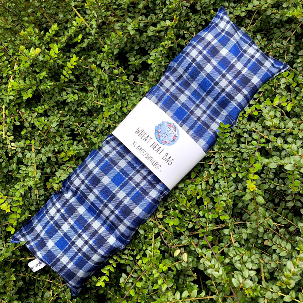 Wheat Heat Bag - Blue Tartan - XL