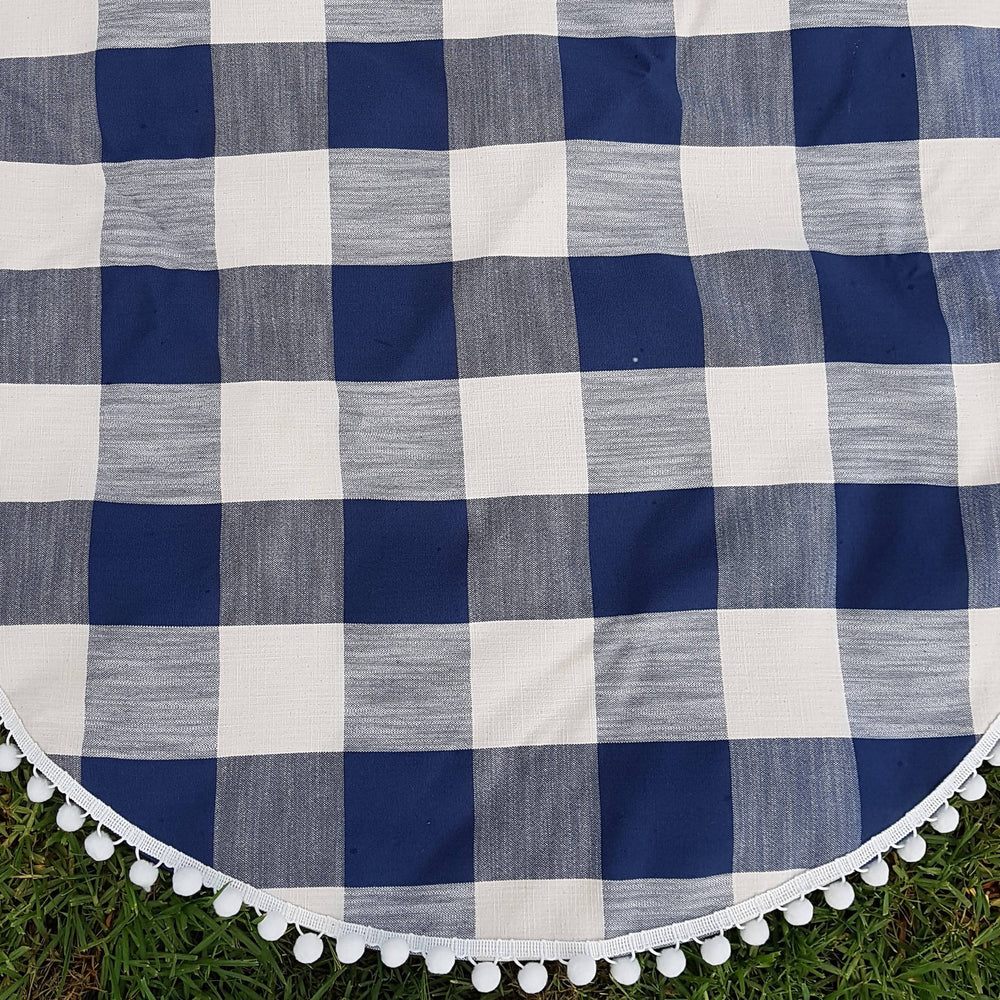 Blue Gingham| Weatherproof backing |Play/Picnic mat