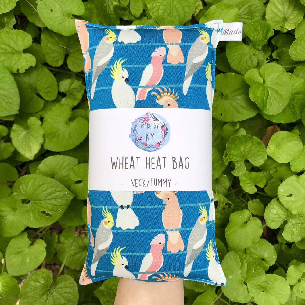 Wheat Heat Bag - Birds on a Wire Blue - Regular-Wheat heat bag-The Red Road Collective