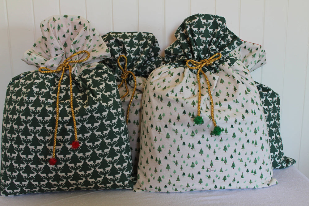 Deers and Trees set of 4 | Santa Sack