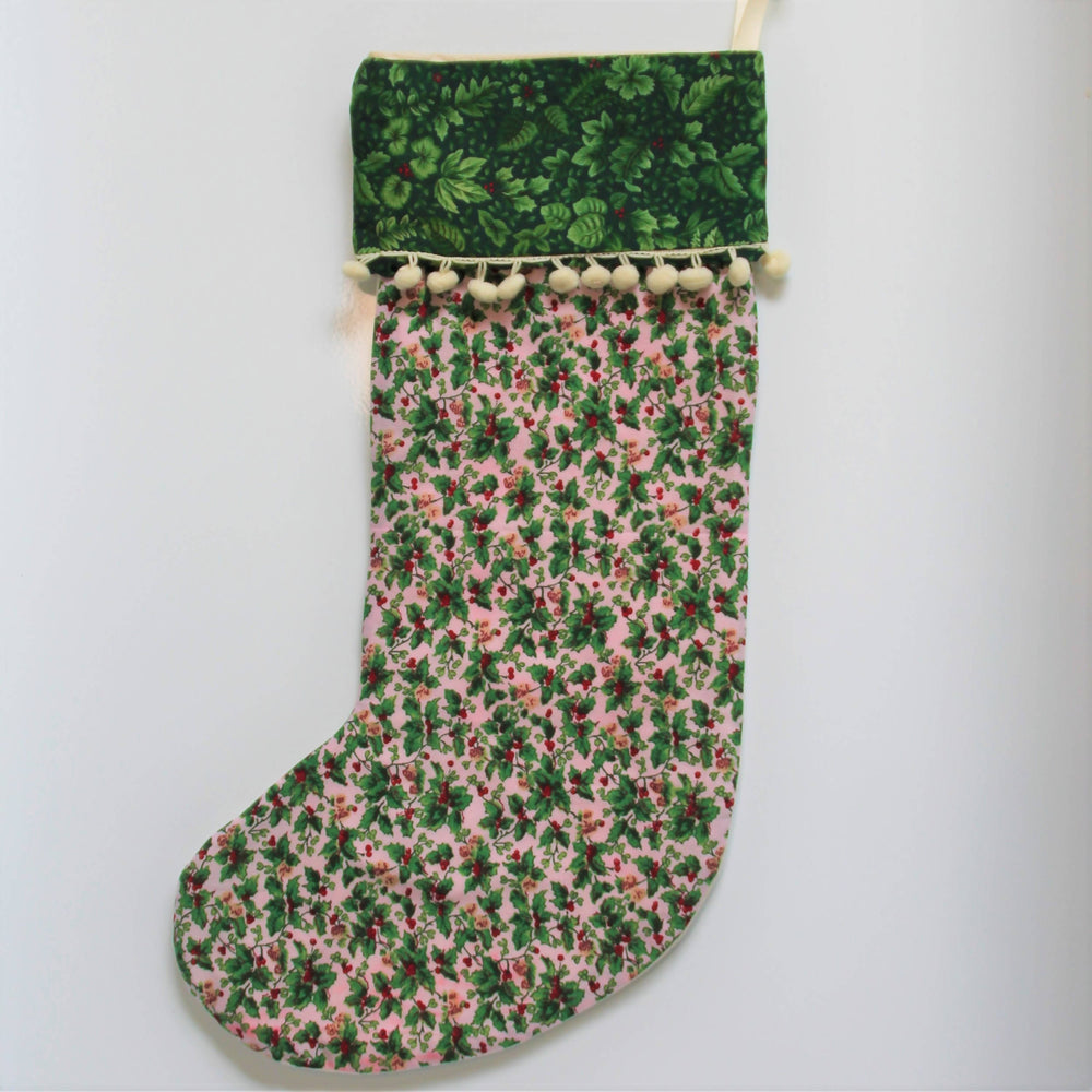 Holly Jolly Christmas| Christmas Stocking-Christmas Stocking-The Red Road Collective