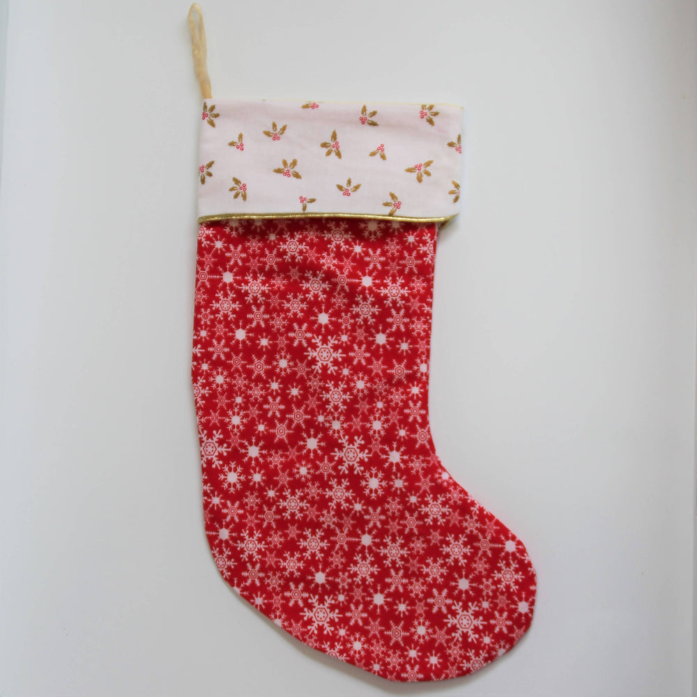 Red snowflakes| Christmas Stocking