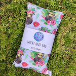 Wheat Heat Bag - Tropicana Sloths - Regular-Wheat heat bag-The Red Road Collective