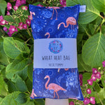 Wheat Heat Bag - Flamingos - Regular-Wheat heat bag-The Red Road Collective