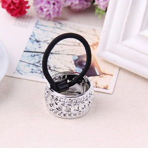 Hot Sales Fashion Plastic Print Hair Rope Elestic Rubber Hair Bands Headbands