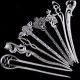 1PC New Vintage Women Hair Sticks Pins Elegance Silver Alloy Geometric Girls Headbands