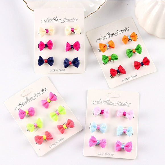 Wholesale 6PCS/Set New Cute Little Girls Barrettes Candy Color Kid Small Hair Clip