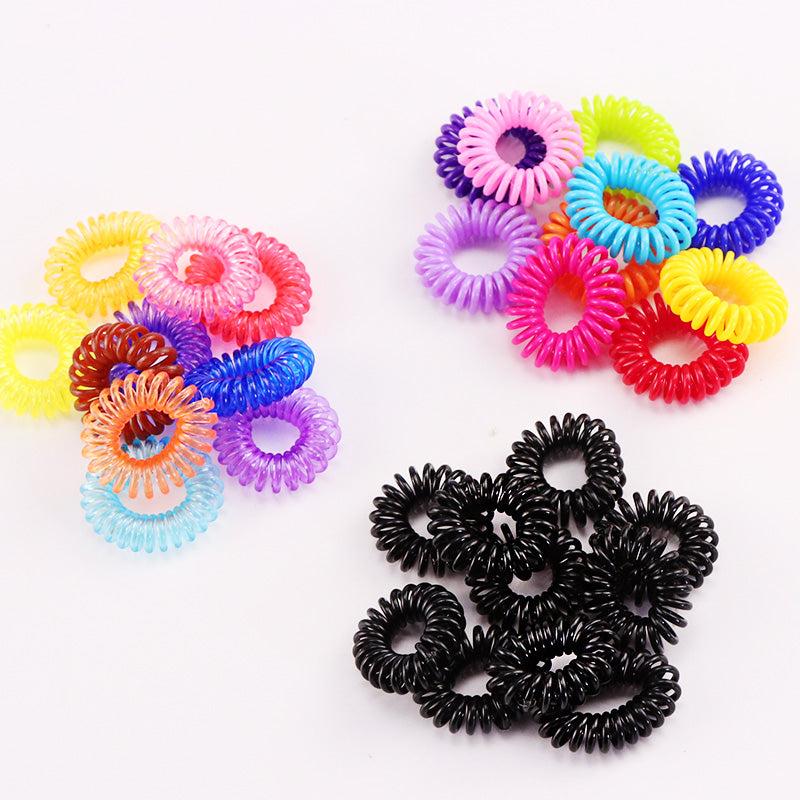 10PCS Lot New 2cm Small Telephone Line Hair Ropes Girls Colorful Elastic Hair  Bands ... 1f9f98c6d2b
