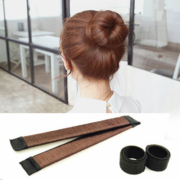 1PC Women Magic Sweet Dish Diy Hairstyle Tool Quick Bun Maker Bud Hairbands