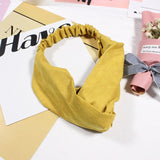 2018 New Women Spring Suede Soft Solid Headbands Vintage Cross Knot Elastic Hairbands