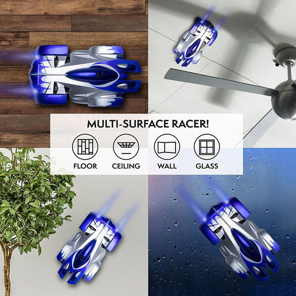 Remote Control Wall Climbing RC Car with LED Lights 360 Degree Rotating Stunt Toys Antigravity Machine Wall Racer - Project Lvl Online Store