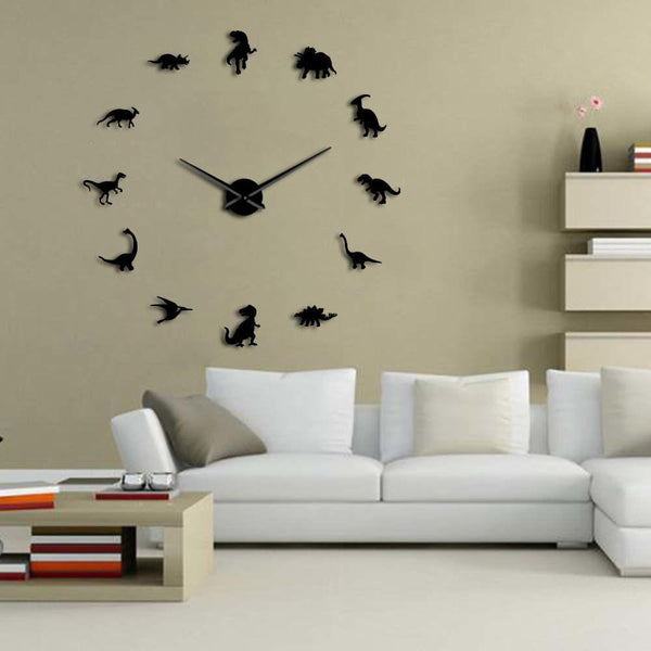Decorative Wall Clock Frameless Dinosaur