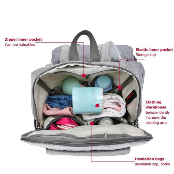 2-in-1 Easy-Seat Diaper Bag - Project Lvl