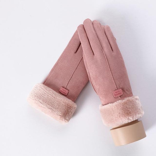 """Suede & Cozy"" Plush Touchscreen Gloves - Project Lvl"