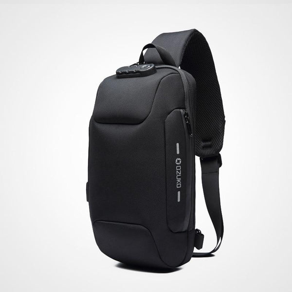 Project Lvl Online Store 100002856 Anti-Theft Backpack Messenger Bag With 3-Digit Lock