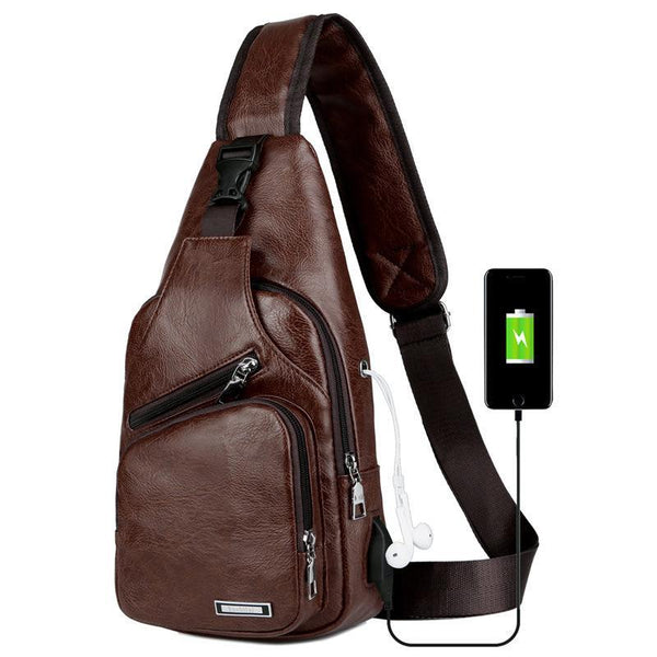 Project Lvl Online Store 100002856 Luxury Cross Messenger Bag with USB Port