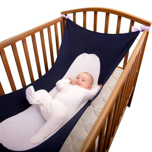 Project Lvl Online Store 100003029 Purple Baby Hammock For Newborn and Toddlers Sleeping Bed Safe Detachable Baby Cot Crib Elastic Hammock With Adjustable Net