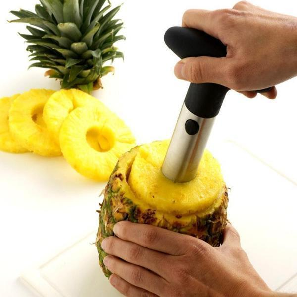 Project Lvl Online Store 100003249 Black Pineapple Cutter, Slicer, Corer, Wedger All In One