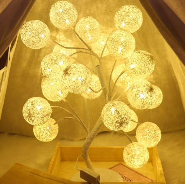 Cotton Ball Light Tree Lamp - Project Lvl Online Store