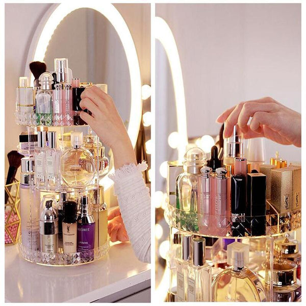 Project Lvl Online Store 154102 Clear Rotating Makeup Storage Organizer