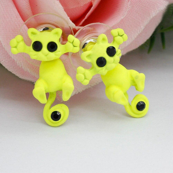 Cuddly Cat Sweet Fashion Animal Cartoon Cat Earrings - Project Lvl Online Store