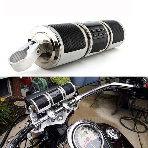 Project Lvl Online Store 200000300 Motorcycle Bluetooth Player Speaker Music FM Radio Waterproof Adjustable Bracket Motorbike Audio Stereo