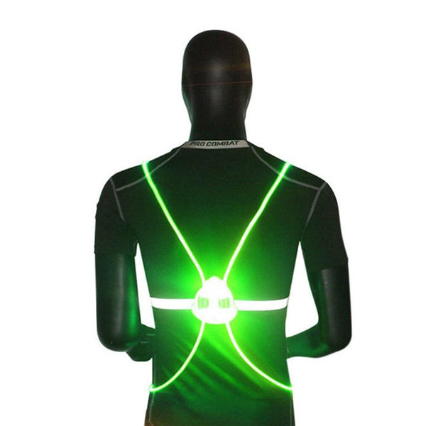 Visibility LED Running Cycling Reflective Vest Lights Safety - Project Lvl Online Store