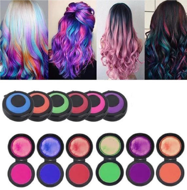 Temporary Hair Chalk Dye Powder Color Set (6 Colors) - Project Lvl Online Store