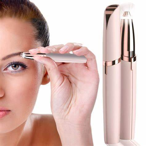 Project Lvl Online Store 200001193 Eyebrow Hair Remover Eyebrow Hair Remover, Electric Painless Eyebrow Trimmer Epilator for Women, Portable Eyebrow Hair Removal Razor with Light