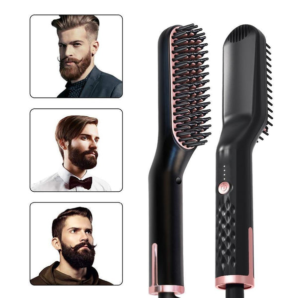 3 in 1 Hair Straightener Brush For Long Hair, Short Hair And Beard - Project Lvl Online Store