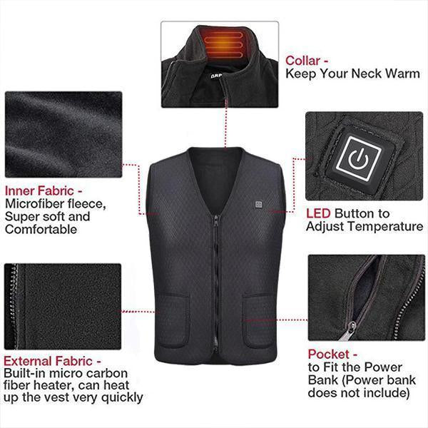 Project Lvl Online Store 200003368 Electric Heated Winter Vest