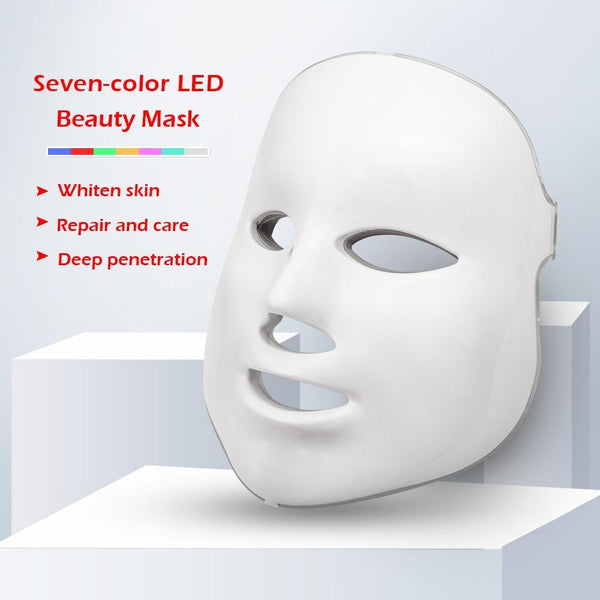 Project Lvl Online Store 200190144 LED Facial Mask Therapy 7 Colors Face Mask Machine Photon Therapy Light Skin Care Wrinkle Acne Removal Face Beauty for Home use