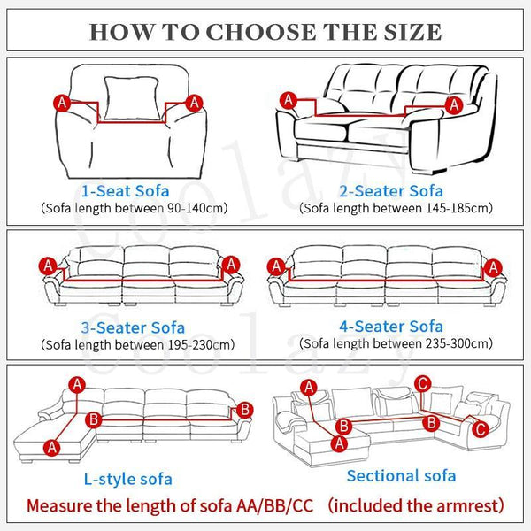 Sofa Cover Scratch-Proof, Stain-Free Elastic Stretch for Living Room Couch Cover L shape Armchair Cover Single/Two/Three Seat - Project Lvl Online Store