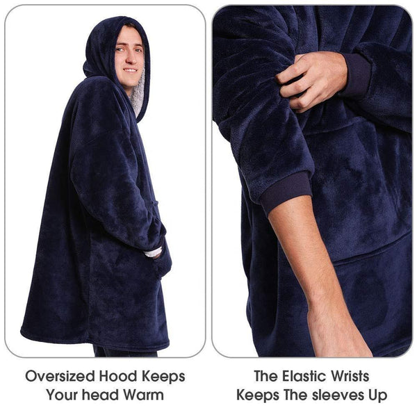 Wearable Winter Blanket Hoodie Oversized Sherpa - Project Lvl Online Store